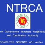 NTRCA Written of ICT (Code 431)